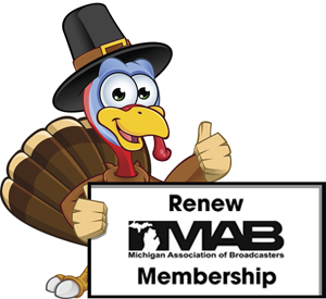 A cartoon illustration of a Thanksgiving Turkey character.