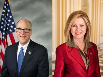 (L-R) Greg Walden (R-OR) and Marsha Blackburn (R-TN)